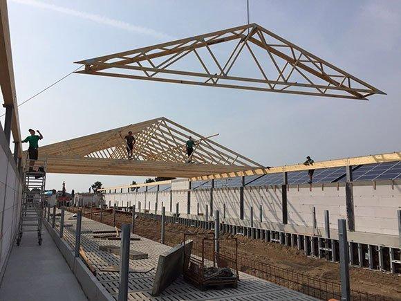 Dachkonstruktion mit besonderen Brandschutzanforderungen Silberstedt 4