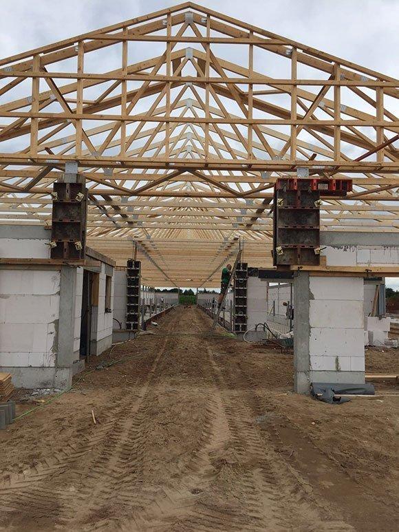 Dachkonstruktion mit besonderen Brandschutzanforderungen Silberstedt 6