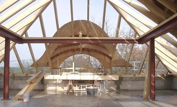 Dachkonstruktion mit Fledermausgauben