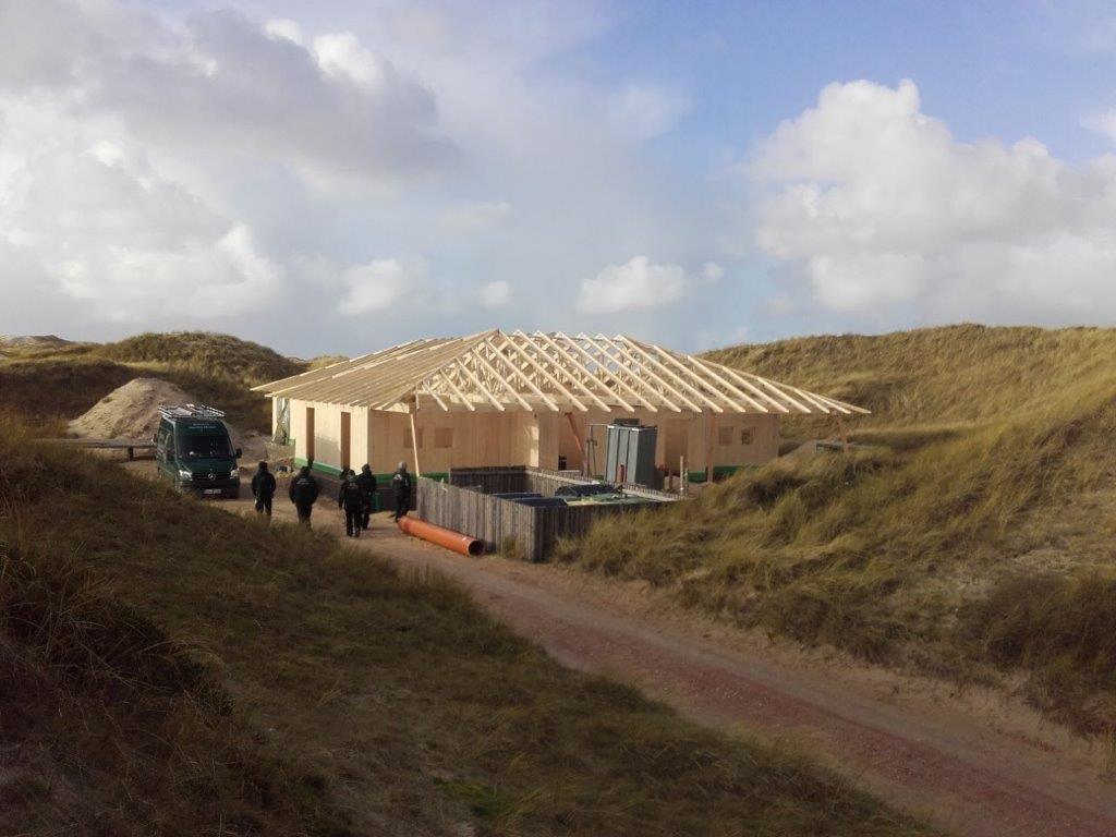 Dachkonstruktion Von Ing Holzbau Schnoor In Den Dunen Von Amrum