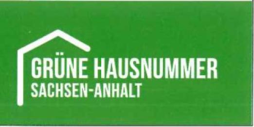 Grüne Hausnummer Sachsen-Anhalt